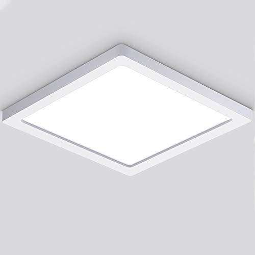 Oeegoo Plafoniera LED soffitto sottile, 18W 1530LM Lampada Piatta Soffitto per Soggiorno Sala da pranzo Camera da letto Cucina Balcone Corridoio, Bianco Naturale 4000K