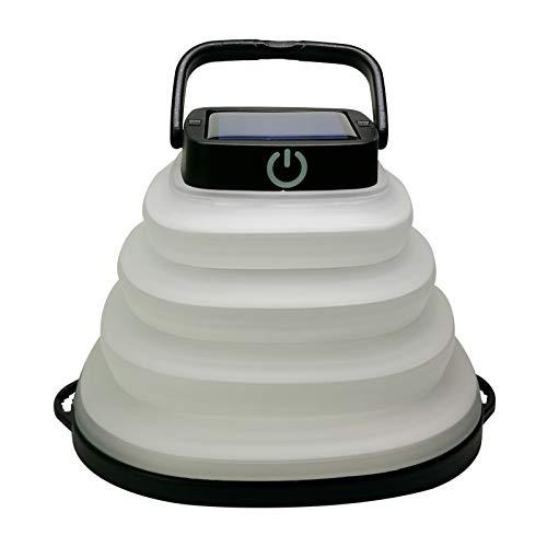 Al aire libre impermeable plegable lámpara solar deportes luz conveniente plegable luz led al aire libre camping luz tienda luz inflable luz solar luz (negro)
