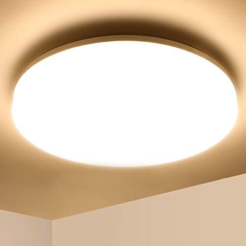 Lámpara de Techo LED 36W Ketom Blanco Cálido 3000K Plafón de Techo Redonda 3240LM Equivalente a la Lámpara de 120W, Ultra Delgado IP44 Moderna Downlight Para Dormitorio Baño Comedor Sala de Estar