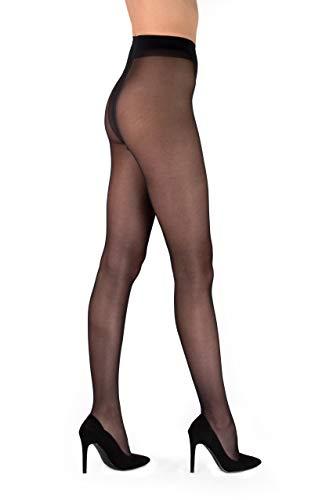 Pierre Cardin Tights Semi Opaque Sheers Nude Effect Silky Pantyhose City Line Belfort 40 Den Medium Black