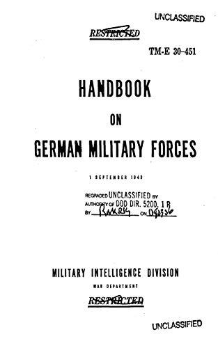 TM-E 30-451 Handbook on German Military Forces 1943 (English Edition)
