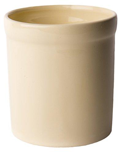 American Mug Pottery Ceramic Utensil Crock Utensil Holder Made in USA Ivory