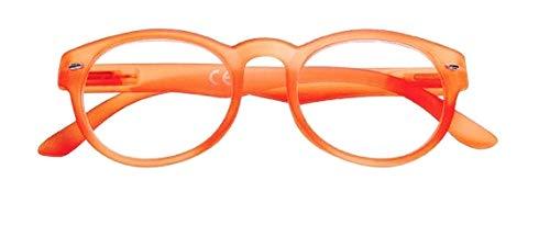 Zippo Vicino Brille PC Smartphone mit Sichtfenster Dioptrien Modern Unisex Presbite +1.00 Arancione Fluo