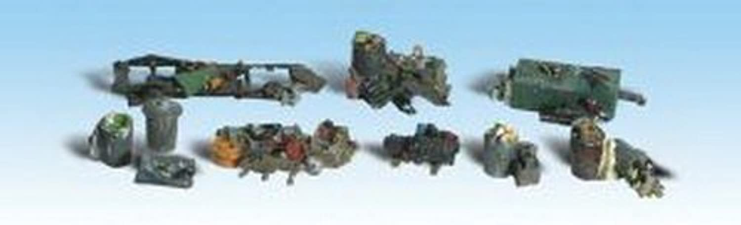 calidad fantástica Woodland Scenics HO Scale Scenic Accents Detail Detail Detail Set - Assorted Junk Piles by Woodland Scenics  a precios asequibles