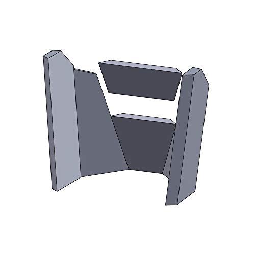 Kaminofen Schamottsteine passend für Hark 17/29/34/35/44/52/63/77/99/NAPOLI/ROMA GTE RUA - Set 6-teilig Feuerraumauskleidung