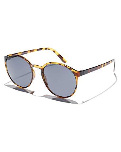 Le Specs Swizzle Syrup Tort Smoke Mono - Sonnenbrille Damen und Herren - Gestell Braun Leo Glas Grau - Retro Klassiker - 1902131