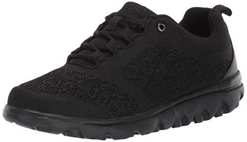 Propet Women's TravelActiv Fashion Sneaker, All Black, 11 Narrow