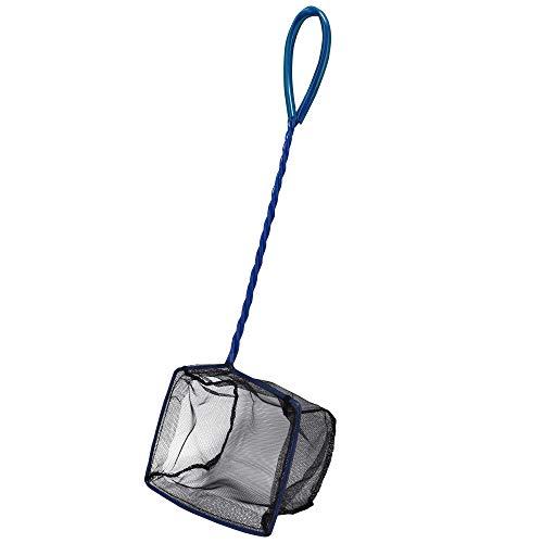 Hobby 60721 Catch it Größe M - hochwertiges Fischfangnetz für Aquarien, Kescher aus reißfestem schwarzen Nylon, M, 46 g