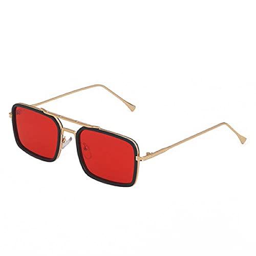 Powzz ornament 2021 NUEVO Haz Doble Marco Pequeño Marco Moda femenina con la misma caja Gafas de sol Tendencia masculina-Seducir_Otro