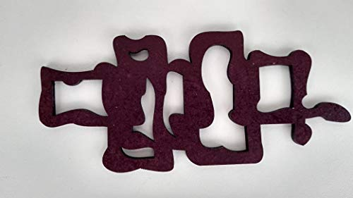 Escultura de parede cortada à laser em MDF de 6mm com 70cm, abstrata quadrados irregulares.
