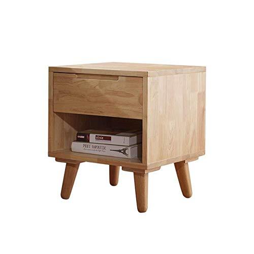 TXXM® Herstellung Nacht Beistelltisch Massivholz Nachttisch Form einfach und haltbar und praktisch Praktische Möbel