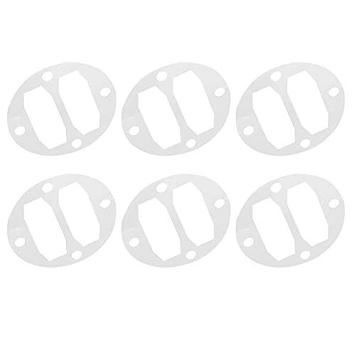 BOLORAMO Junta de compresor de Aire, Placa de válvula de Metal 3P / 4P Ductilidad Resistencia a la corrosión Conductividad térmica 10 Piezas para Cilindros con un diámetro de 51 mm