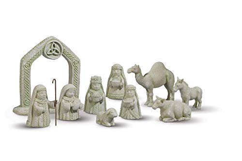 Irish Celtic Nativity Set - 10-Piece Set by Grasslands Road