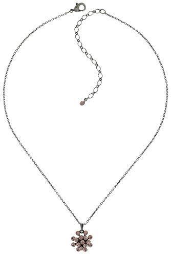 Konplott Necklace pendant Magic Fireball - pink vintage rose - mini antique silver (Mini(16mm Ø))