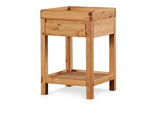 Richy Telefontisch, Material Massivholz, Kiefer eichefarbig gebeizt