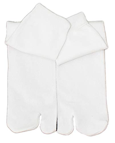 Unbekannt Chaussettes Femmes Tabi Chaussettes Samouraï Chaussettes - blanc, 3er Pack