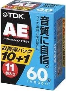 TDK オーディオカセットテープ AE 60分11巻パック [AE-60X11G]