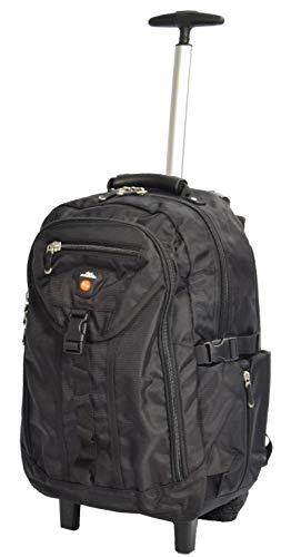 Lightweight Backpack On Wheels Cabin Size Sports Hiking Walking Laptop Rucksack HLG78S (Black)