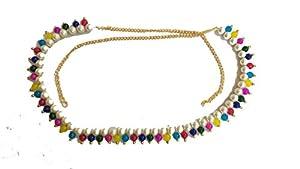 Beaded Traditional Multicolour Moti Kamarband,Belly Chain,Tagdi,Ottiyanam,Vaddanam,Kardhani for Saree, Dress, Jeans Wear