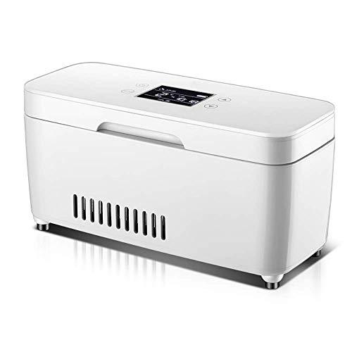 MQJ Frigorífico de Insulina, Refrigerador de Insulina de Automóvil, Refrigerador de Medicamentos Portátiles, Recordatorio Inteligente Que Carga Mini Refrigerador Auto Medicina Termostato, Viaje