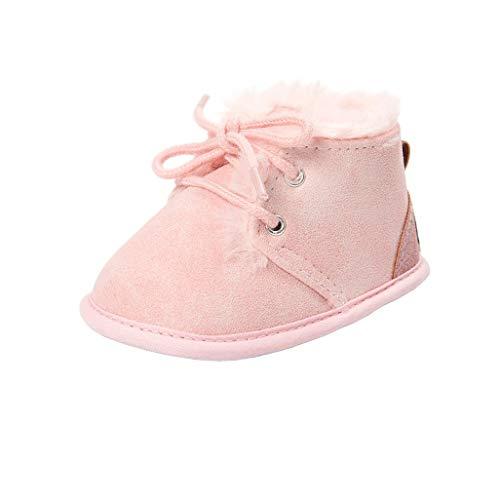 Auxma Botas para pequeños bebés niños niñas,Calzado de Invierno Grueso,Zapatos para bebé...