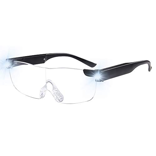 Tide Magnifying Glasses with Light Led USB Rechargeable Magnifier Eyeglasses LED Big Zoom Vision