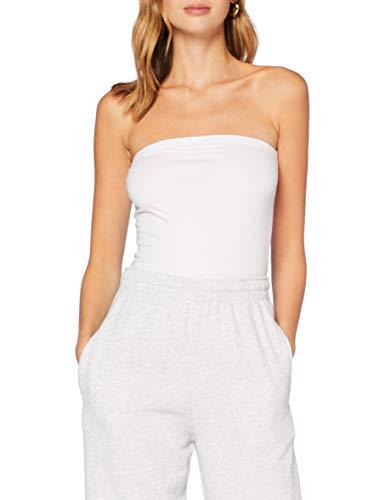 Vero Moda Vmmaxi My Soft Bandeau Top Ga 2pack Camiseta, Weiß, M para Mujer