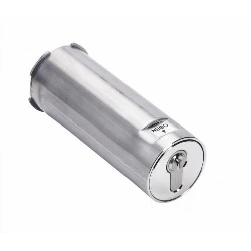 Kruse PZ SchlüsselSafe light - vorgerichtet für den Einbau eines Profil-Halbzylinders - 50mm Durchmesser - für Wandeinbau