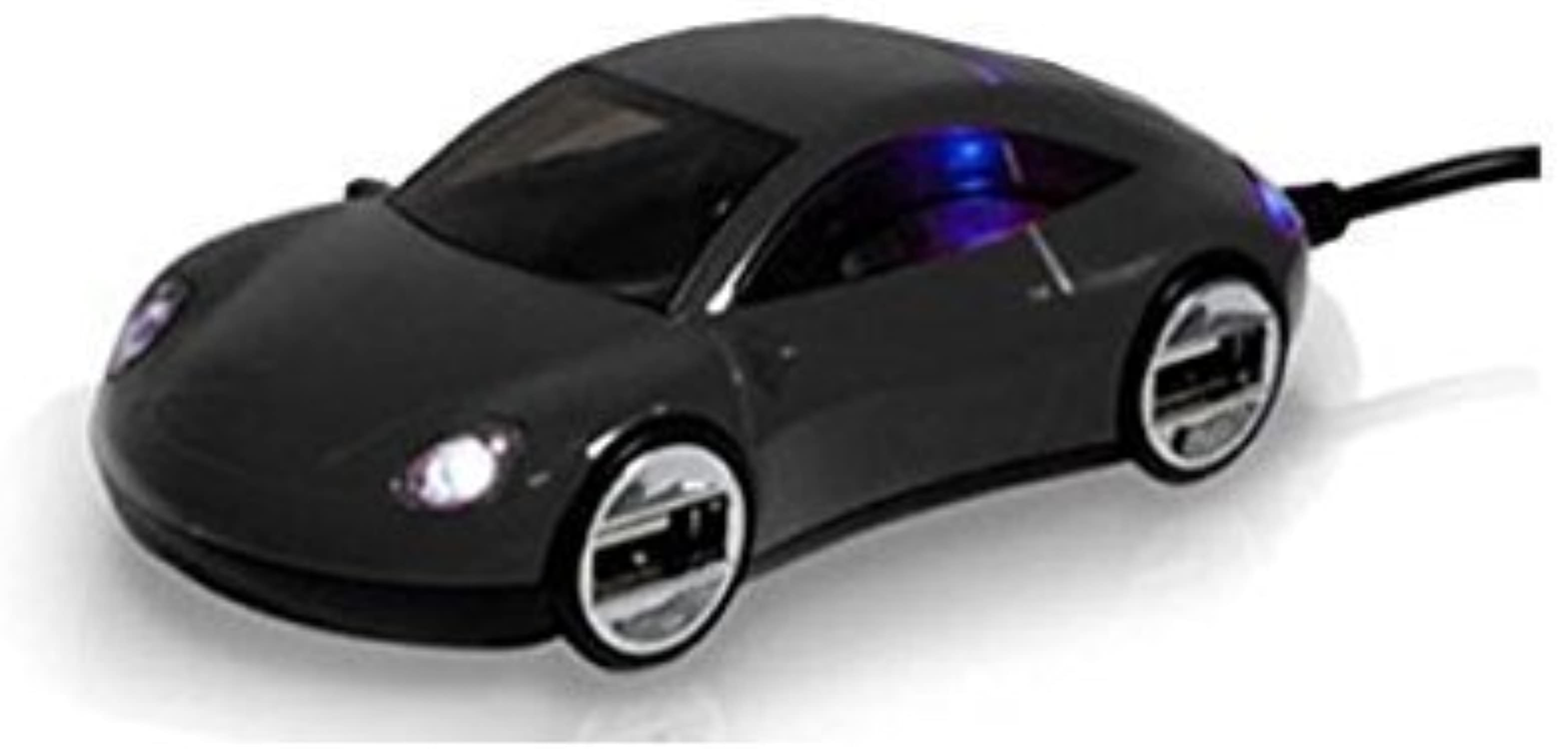 muy popular Light Up Sleek negro Race Car 4 4 4 Port USB 2.0 Hub Accessory by Kito  almacén al por mayor