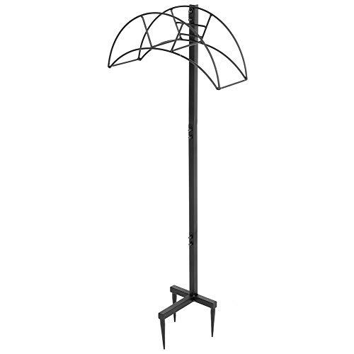 Schlauchhalter für Garten Schlauchständer Gartenschlauchhalter Abnehmbarer Freistehender Metall-Wasserschlauchhalter für den Außenhof, 38 x 14 x 104 cm