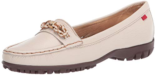 MARC JOSEPH NEW YORK Damen Leder Made in Brazil Orchard Street Golf Schuh, Weiá (Getrommelkörnchen Creme), 40 EU