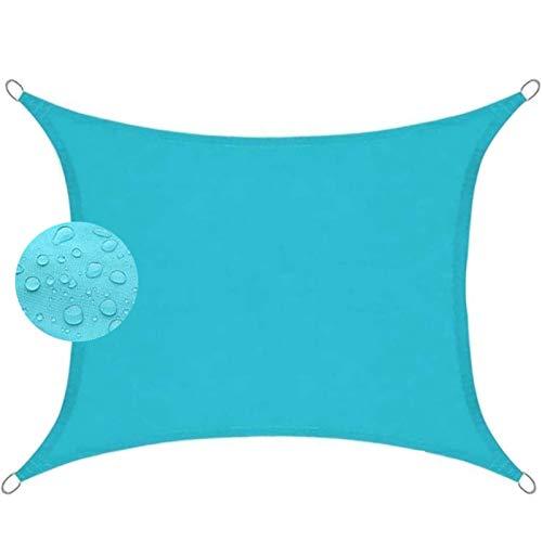 Toldo Parasol 6x7.5m Telas Lona Cubierta Protección Anti-UV 95%, Toldos IKEA Impermeable, para Exteriores Patio, el jardín, protección UV, Azul