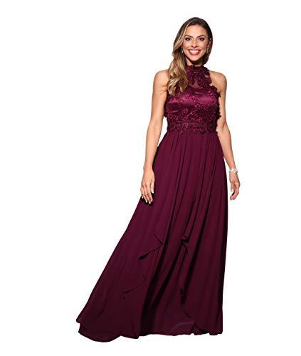 KRISP Vestido Fiesta Largo Gasa Dama Honor Corte Imperio Invitada Boda Talla Grande Elegante Madrina Ceremonia