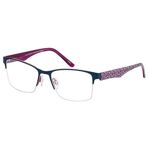 Change Me Brille 2160-11 mit Wechselbügel 8430-2 blau auf rosa