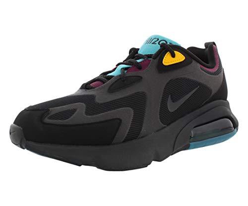 Nike Men's Air Max 200 Running Sneakers, Black Anthracite-bordeaux, 11