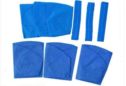 Lot de 20 chapeaux de travail jetables non tissés - Bleu