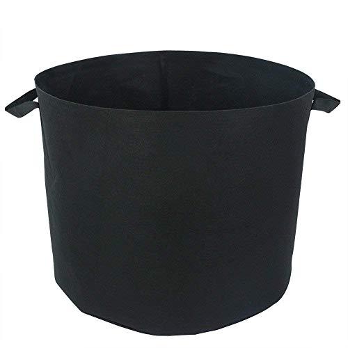 Gardeningwill Sac à Plante réutilisable en Toile Non tissée Respirant avec poignées 20 Gallon Noir