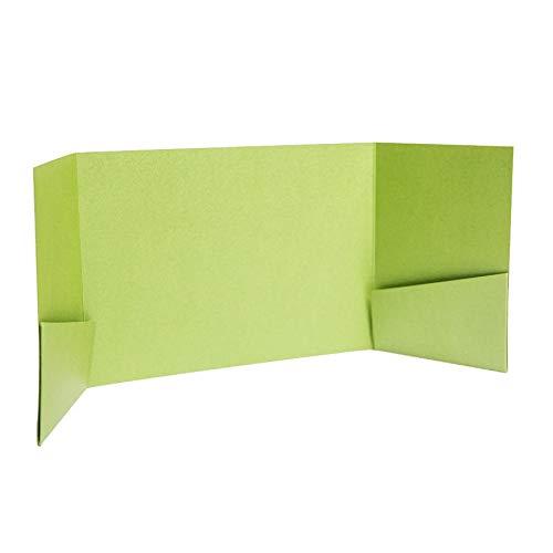 Pocketfold Invites Ltd Einladungskarten, Perlglanz, 130 x 185 mm, Apfelgrün grün
