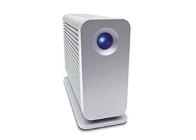 LaCie 301317U Little Big Disk Quadra eSATA/Firewire400/Firewire800/USB 2.0 Portable Hard Drive (Aluminum) from Lacie