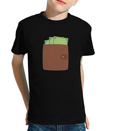 tostadora - T-Shirt Portafoglio con I Soldi - Bambini Nero S