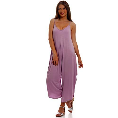 YC Fashion & Style Damen Overall Jumpsuit im Harem-Stil als Stylisches Freizeit -Strand oder Party-Outfit Jumper One Size (One Size, Flieder)