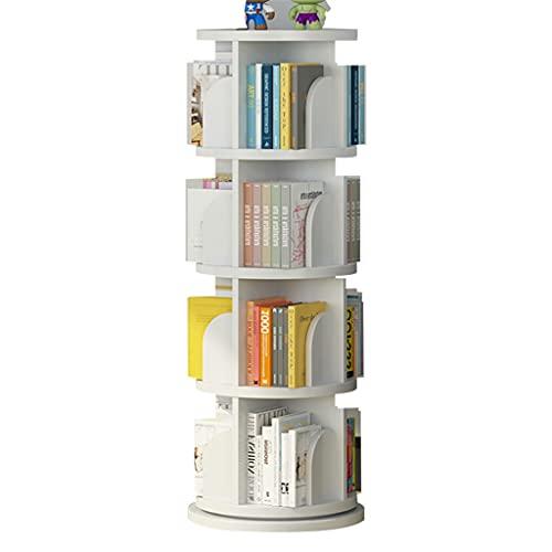 Serre-livres Bibliothèque Ronde Ronde Blanche, bibliothèque rotative pour Enfants à 360 °, cultivez l'intérêt...