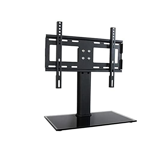 BEYTII Soporte Universal para TV de Escritorio, Pantalla Curva de Superficie Plana de Plasma LCD LED Ajustable en Altura, gestión de Cables con Base de Vidrio Templado (Color : 1)