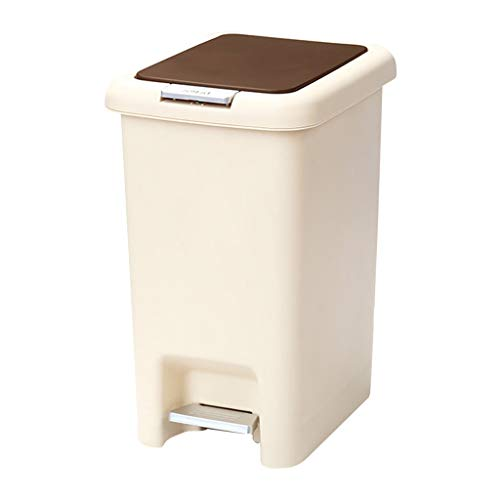 Bote de Basura Bote de Basura de Cocina de plástico con Pedal, 6.5L / 10L / 15L / 20L Bote de Basura con Tapa, Ideal for Apartamentos, hoteles o dormitorios Bote de Basura Humano Simple