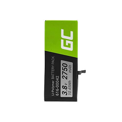 Batería de Repuesto Interna Green Cell A1687 Compatible con iPhone 6S Plus   Li-Polymer   2750 mAh 3.8 V   Batería de reemplazo para teléfono móvil del Smartphone   Recargable