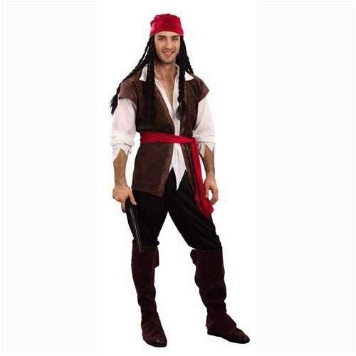 Pirate Des Caraïbes Homme Déguisement Costume Taille Unique