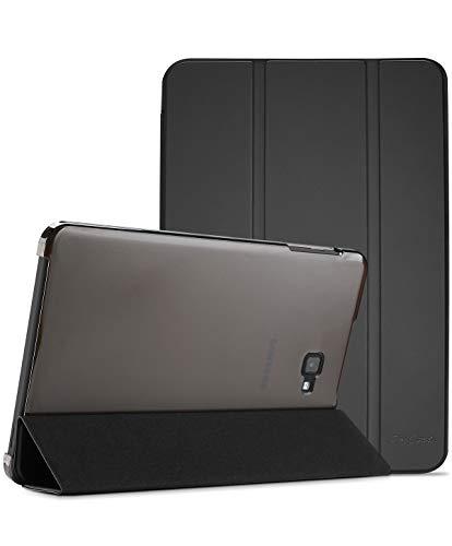 "ProCase Funda Tipo Libro para Galaxy Tab A 10,1"" 2016 T580 T585 T587, Carcasa Folio Ligera Delgada con Reverso Translúcido/Soporte Plegable para 10.1"" Galaxy Tab A 2016 Modelo Viejo –Negro"