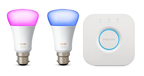 Philips Hue Hue White and Color Ambiance Mini Starter Kit B22, 10 W