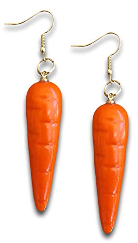 Pashal - Pendientes colgantes de zanahoria (tamaño XL, zanahoria), color naranja