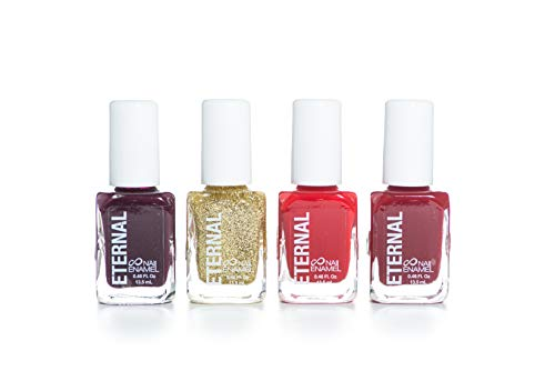 Eternal Christmas Collection 4 Set Color Pieces: Long Lasting, Hardener and Bright Finish – 0.46 Fluid Ounces